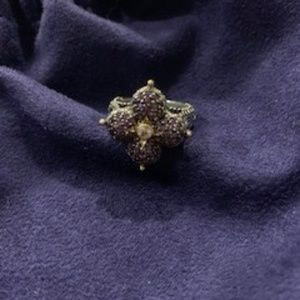 Barbara Bixby Amethyst, Gold, SSilver Ring